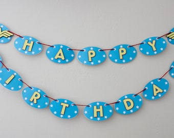 Wonder Woman Inspired Happy Birthday Banner