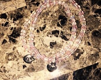 Heart Charm Stretch Bracelet