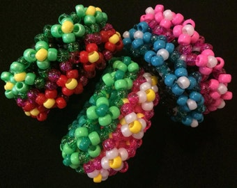 3D Colorful Flower Cuff (1)