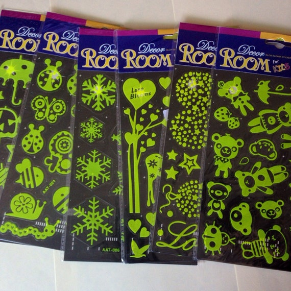 Sale 30 Off 6 Sheets Glow In The Dark Stickers Wall