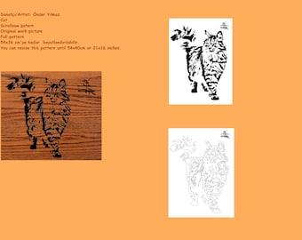 Cat Scrollsaw Pattern