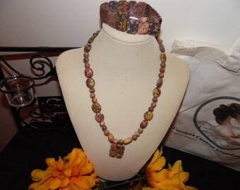 Carolyn Osborn-Leopardskin Jasper, Handmade Jewelry, Natural Gemstone