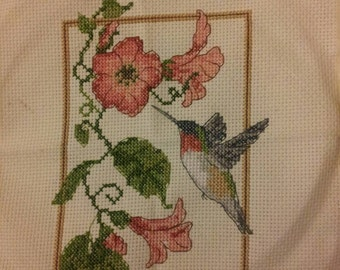 Humming bird cross stitch
