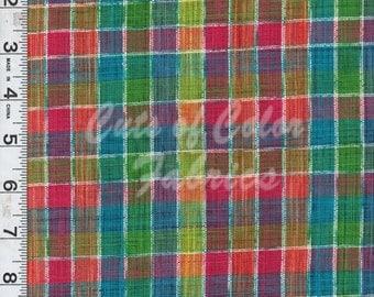 Artistic Threads Fancy Slubbed Plaids multi-colored pattern