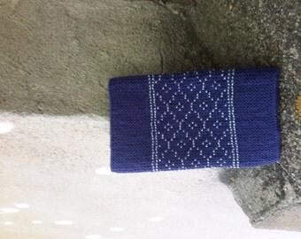 Wrist warmers - beaded - blue