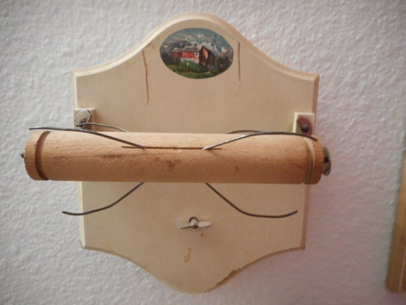 Vintage Toilet Paper Roll Holder Musical By Hidenseekantiques