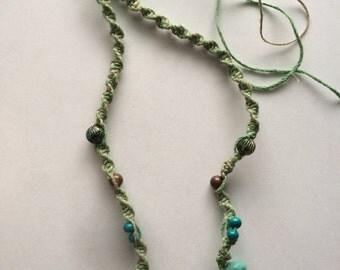 Green Hemp Necklace