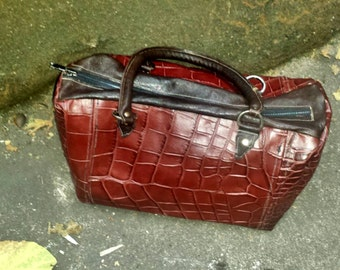 Burgundy Crocodile Speedy Bag (SOLD)