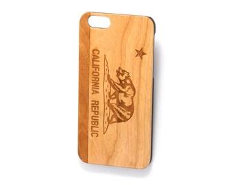 California Republic wood iphone case, california iphone 7 case,california iphone 5 case,california iphone 6 plus case,california flag,iphone