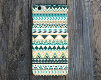 GEOMETRIC PATTERN iPhone 6 Case. Tribal Pattern iPhone 6 Case. Teal iPhone Case. Chic iPhone 6 Plus Case. Tribal iPhone 6 Case. Unique Gift.
