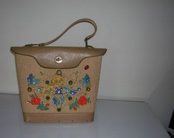 Vintage Edin Collins Jeweled Flower Garden Handbag