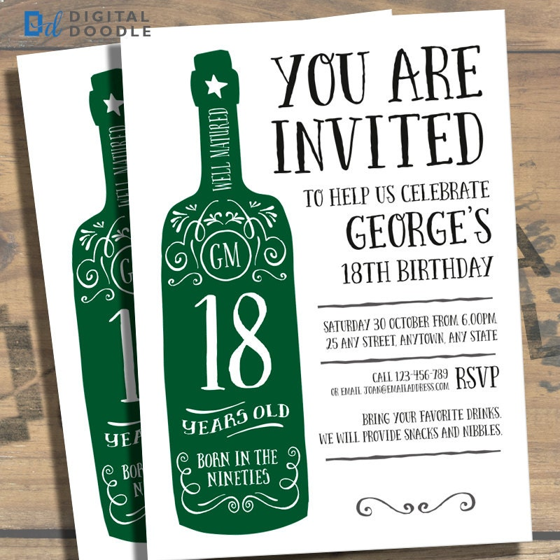 18th Birthday Invitations For Boys Gallery Invitation Templates