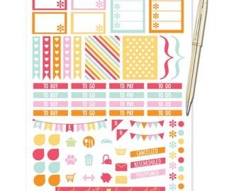 Planner Stickers Weekly Kit - Gelato