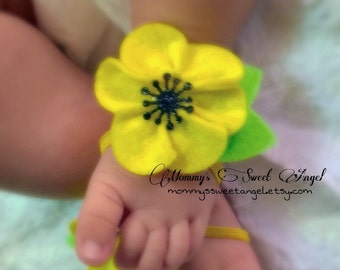 Ume flower baby barefoot sandals