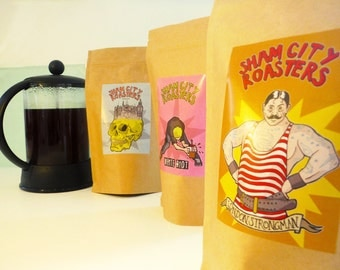 Filter Coffee, Freshly Roasted - 3 Coffee Sample Pack From Sham City Roasters, Specialist Craft Coffees Roasted In London
