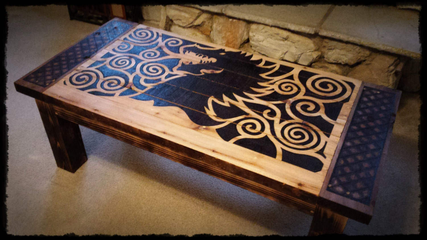 Custom coffee table dragon 39 s breath - Customiser table basse ...
