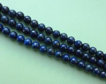 Lapis Lazuli Round 6mm Beads - Full Strand