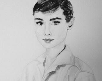 Original Audrey watercolour painting