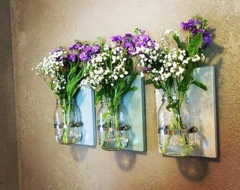 Hanging Mason Jar Planter Set