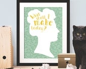 Home Décor Wall Art, 'What shall I make today?', Poster, Motivation Poster, Motivation Print, Inspiration Print, Wall Art, Typography Quote