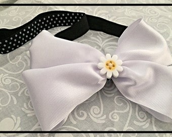 Daisy and Polka Dot Headband