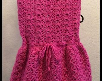 Scalloped Neckline Crochet Dress