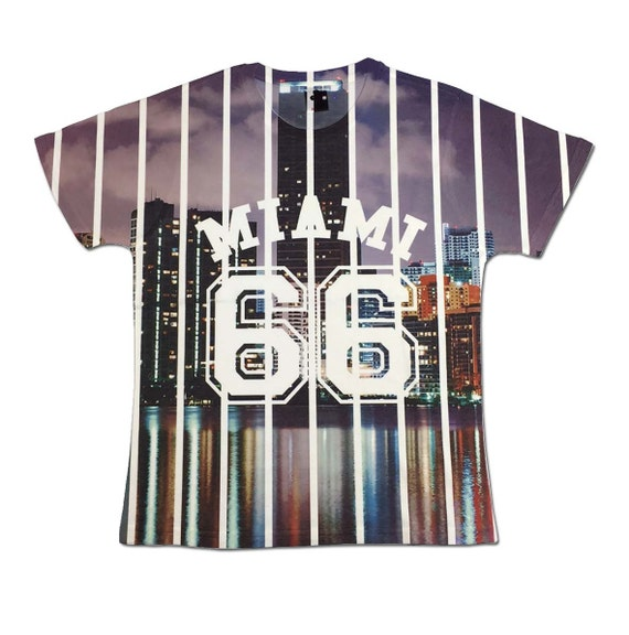 All over print miami graphic t shirt florida by for T shirt printing miami fl