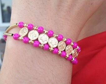 Bracelet, Gemstone Bracelet, Pink Bracelet, Handmade Bracelet, Gifts for Her