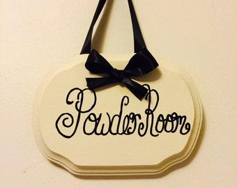 Powder Room, Powder Room Sign, Powder Room Art, Bathroom sign, toilette sign, home decor sign
