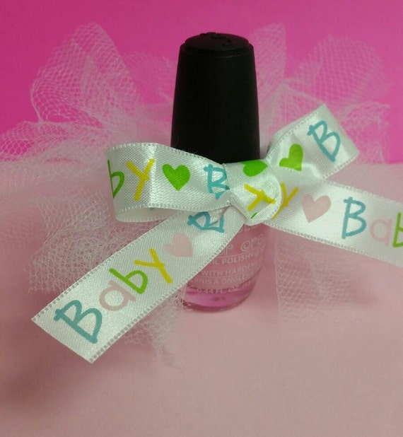 Tutu Nail Polish Baby Shower Tutu Baby Shower Favor Nail