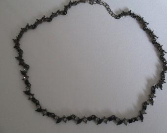 Ellegant Vintage Black and Rhinstone Necklace