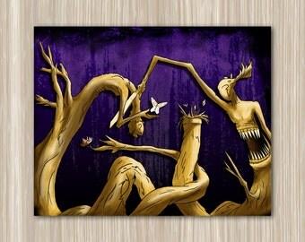 Dark Twisted Trees - 16 x 20 print