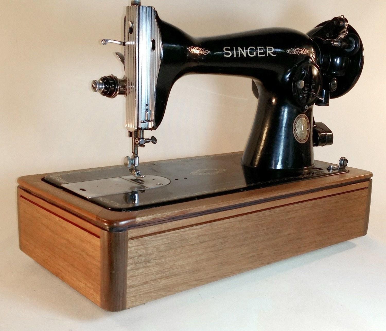 american craftsman series solid mahogany sewing machine base. Black Bedroom Furniture Sets. Home Design Ideas