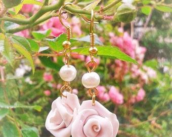 Hime Rose earrings