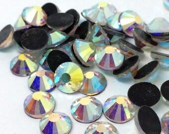 7200 Pcs Or 1440 Pcs ss10/16/20/30/34/40 DMC Iron On Hotfix Flatback Crystal Glass Rhinestones Clear AB