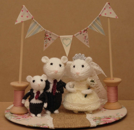 mice wedding cake toppers uk groom and child mice wedding mice cake topper by 17334