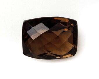 Lustrous Pin cushion cut Smoky Quartz crystal Facet