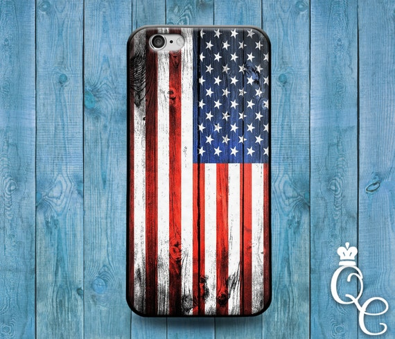 iPhone 4 4s 5 5s 5c SE 6 6s 7 plus iPod Touch 4th 5th 6th Generation Red White Blue Stripes America USA United States Flag Phone Cute Case