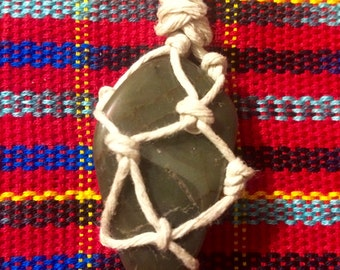 Rock Macramé Necklace