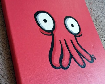 Zoidberg Minimalist Canvas Painting