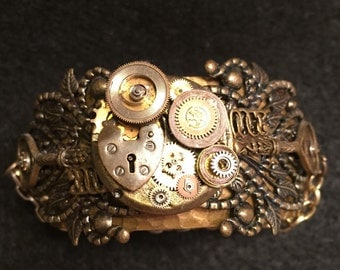 Steampunk Locket Cuff