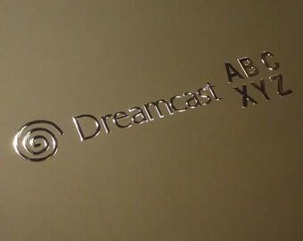 Sega DreamCast Arcade Stick label / Sticker / Badge / Logo 66 x 13mm [180b]