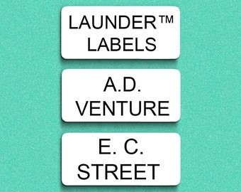 48 Stick On Clothing Labels - Custom Print Personalised LAUNDER™ Labels