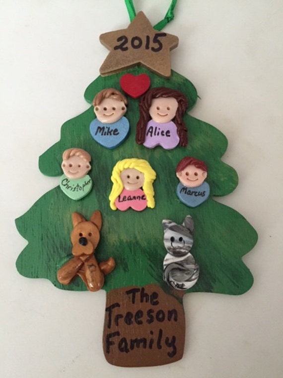 Christmas tree with family