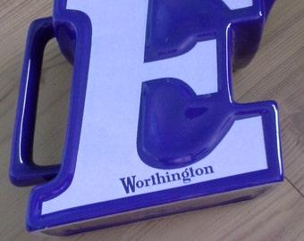 Worthington E Beer-Ceramic Pub Water Jug Bar Pitcher