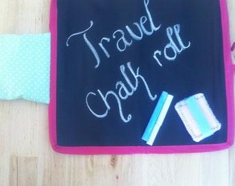 Travel chalk board roll