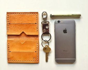 Handmade Leather Wallet - Tan