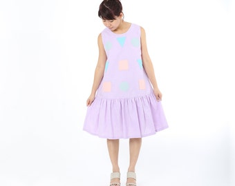 Jun Ruffles Dress Purple