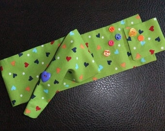 STETHOSCOPE COVER - Hearts on Green
