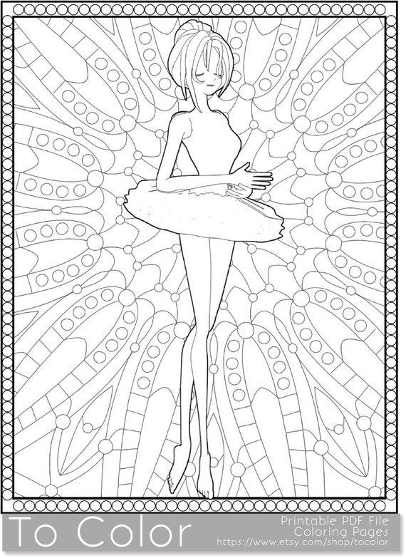 items similar to ballet printable coloring pages for